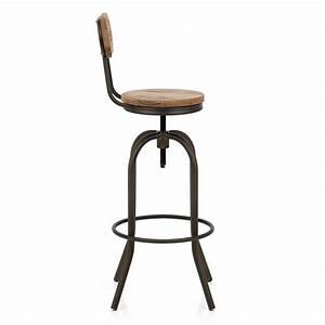 Tabouret De Bar Vintage : chaise de bar bois vintage swivel monde du tabouret ~ Teatrodelosmanantiales.com Idées de Décoration
