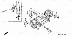 Honda Motorcycle 2001 Oem Parts Diagram For Throttle Body