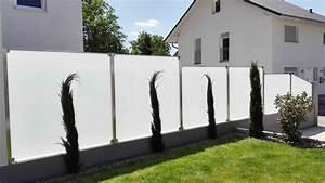 Sichtschutz Befestigung Auf Mauer : glaszaun f r wind und sichtschutz glasprofi24 ~ Watch28wear.com Haus und Dekorationen