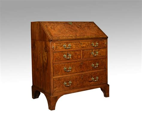 baise bureau walnut cross banded writing bureau antiques atlas