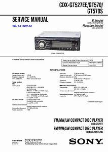 Sony Cdx Gt527ee Gt570 Gt570s Service Manual Download