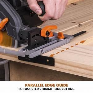 Evolution U00ae 15 4 U0026quot  Circular Saw Kit With 40 U0026quot  Guide