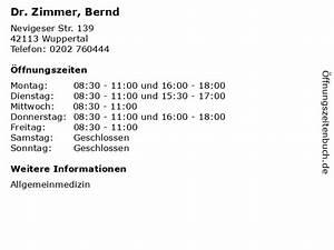 Dr Zimmer Bremen : ffnungszeiten dr zimmer bernd nevigeser str 139 ~ A.2002-acura-tl-radio.info Haus und Dekorationen