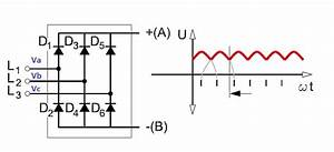 Three Phase Full Wave Rectifier Working  Diagram And