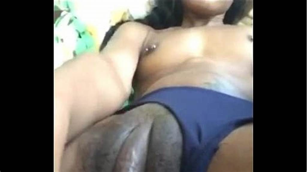 #Ebony #Babe #With #Big #Clit #Strokes #Her #Pussy