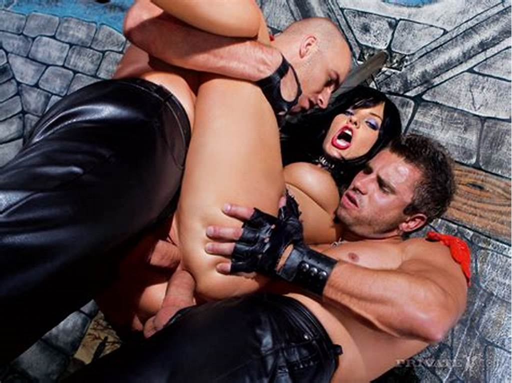 #Fetish #Girl #Lucy #Love #In #Leather #Gets #Double #Penetrated