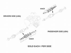 Mini Cooper S Outer Axle Boot Kit Manual Trans Oem