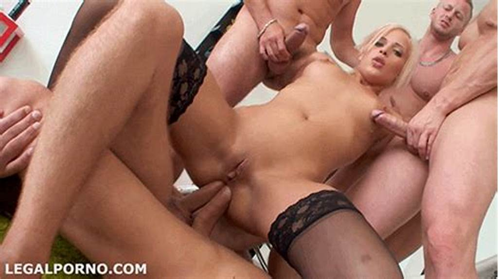 #Blonde #Gets #Fucked #In #Gangbang #4676