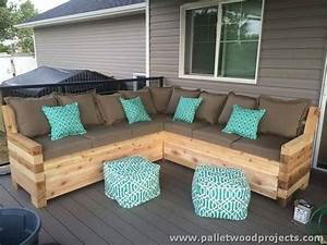 Pallet patio sectional sofa plans outdoor sectional for Outdoor wood sectional sofa plans