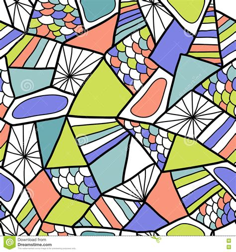 Abstract Seamless Vector Pattern Colorful Doodle