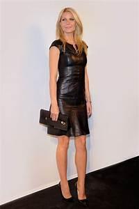 Gwyneth paltrow hugo boss vogue paris for Robe cuir sexy