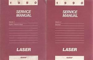 1990 Plymouth Laser Repair Shop Manual 2 Volume Set 90