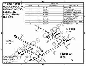 Honda Shadow Ace 750 Forward Controls Extenstion Kit