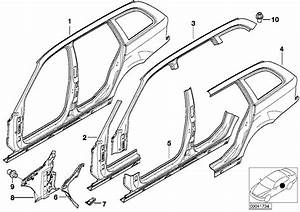 Bmw 325i Connect Plate F Right Side Panel Frame  Body