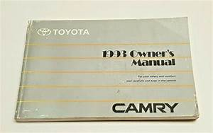 1993 Toyota Camry Owners Manual User Guide V4 2 4l V6 3 0l
