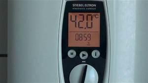 Stiebel Eltron Untertischgerät : vollelektrisch geregelter durchlauferhitzer stiebel eltron dhe 18 21 24 sl youtube ~ Watch28wear.com Haus und Dekorationen