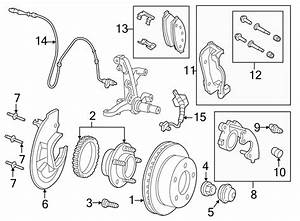 Ford Crown Victoria Disc Brake Caliper Bracket  Suspension