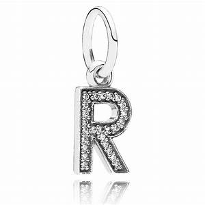 letter r with clear cz pendant 346453 cheap pandora With cheap letter charms