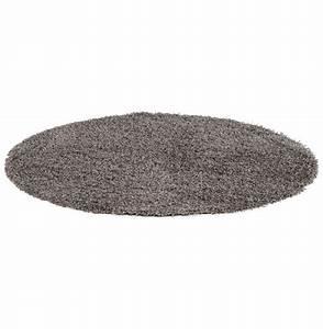 tapis design 39cava39 rond 160 cm a poils longs gris With tapis rond 160 cm