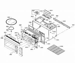 Bosch Hmv5052u  02 Microwave  Hood Combo Parts