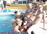 Teen lesbian pool orgy