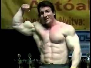 Hot Arm Wrestler Jan Germanus shows off his muscles!